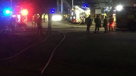 Firefighters have been tackling a blaze at Bedfordshire Growers in Biggleswade, which broke out late