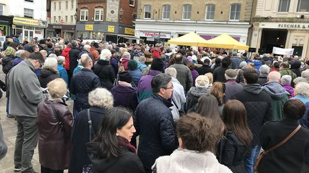 Hitchin's Good Friday service in Market Place. Picture: Dan Drew