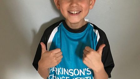 Mason Thomas wants to raise £1,000 for Parkinson's UK. Picture: Stacey Thomas