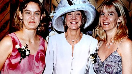 Ann Girdlestone, middle, with daughters Melissa Jones, right, and Susanna. Picture: Girdlestone fami