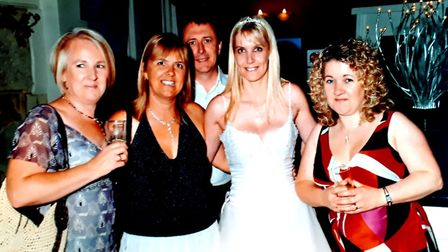 Melissa Jones, second from right, with friends Maxine, Linda and Mandy. Picture: Ann Girdlestone