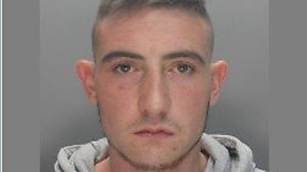 Kyle Davidson is wanted in connection with an assault in Baldock High Street on Friday. Picture: Her