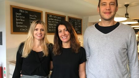 Left to right: Owners Abigail Skinner, Susan Kitchener and Jason Kitchener are hosting their first R