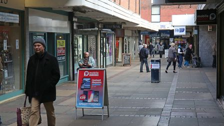 Hitchin's Churchgate, home to Colanders - at far left - for 25 years. Picture: Danny Loo