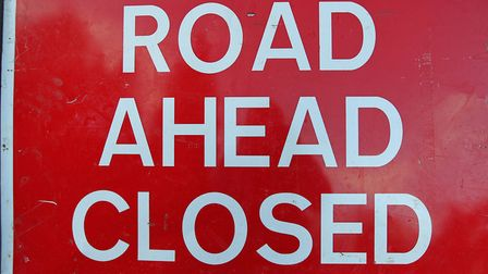 Police have closed roads in Potton following a crash