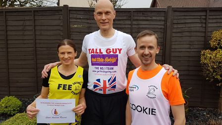 Saffron Striders' Fiona Halls, Guy Tremaine and Alistair Cooke