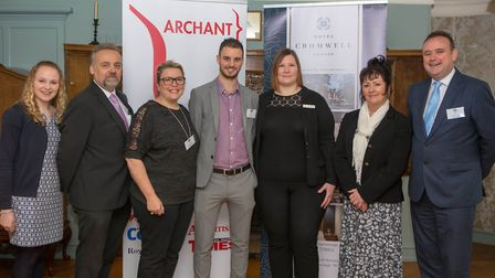 Comet editor Nick Gill with the Archant events team and Hotel Cromwell personnel at the Comet Commun