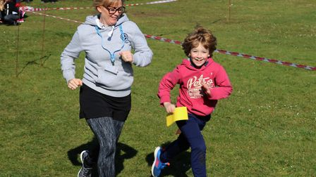Rebecca Beal and her son Harley Beal took on the challenge. Picture: Stephen Calbraith