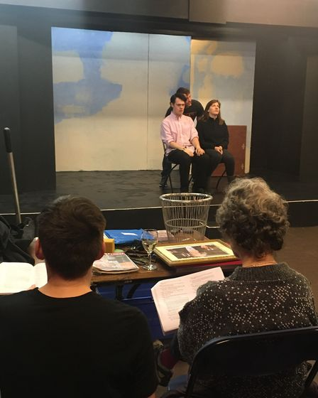 Rehearsals for The Stevenage Lytton Players' production of Teechers