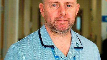 Staff nurse Darren Smith. Picture: East and North Herts NHS Trust.