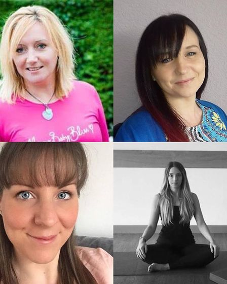 Pregnancy Club co-creators Isabelle Maguire, Kerry Fox, Jo Diplock and Ria Olivera (clockwise from t