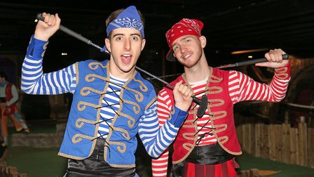 Twist and Pulse played Pirates Swash and Buckle in Peter Pan in Stevenage