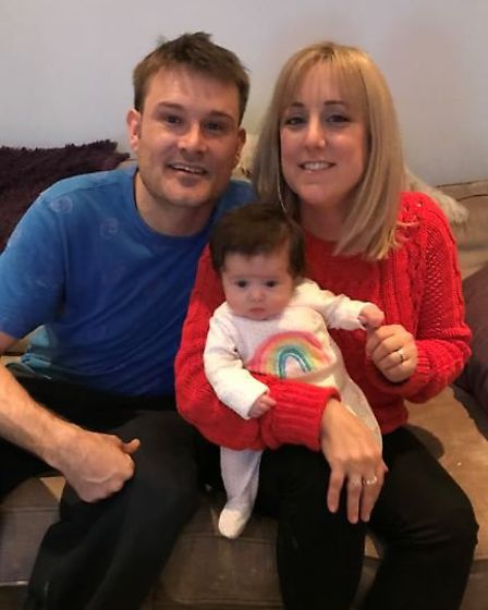 Ashley and Carla Pilsworth with their daughter Polly. Picture courtesy of Carla Pilsworth.