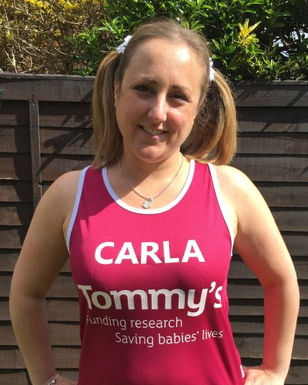 Carla Pilsworth of Hitchin ran the London Marathon in 2016 for Tommy's, a charity that funds pregnan