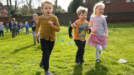 York Road Nursery School take part in a fun run for autism. Picture: DANNY LOO