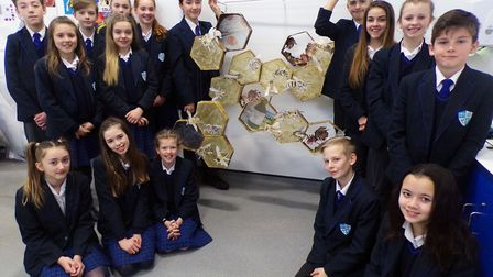 Year 8 students at Etonbury Academy have their work displayed at the Natural History Museum. Picture