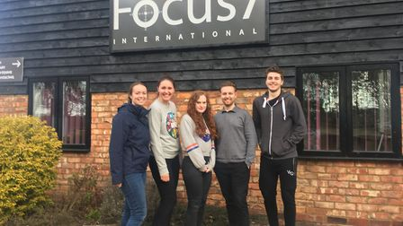 Staff members at Weston's Focus7 International took on the walking challege for Sport Relief. Pictur