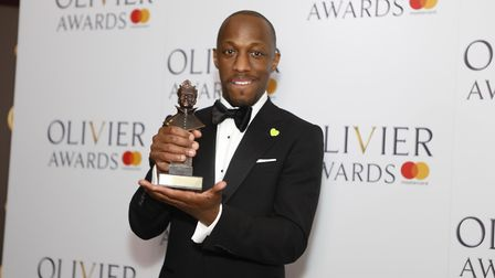Stevenage actor Giles Terera won an Olivier award for Best Actor in a Muscial for his performance in