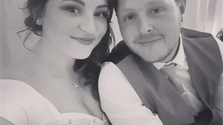 Hayley and Sam Gumble are facing the future together. Picture: courtesy of Hayley Gumble.