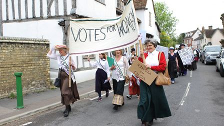 The Suffragette march at Ashwell at Home 2018.Picture: Karyn Haddon