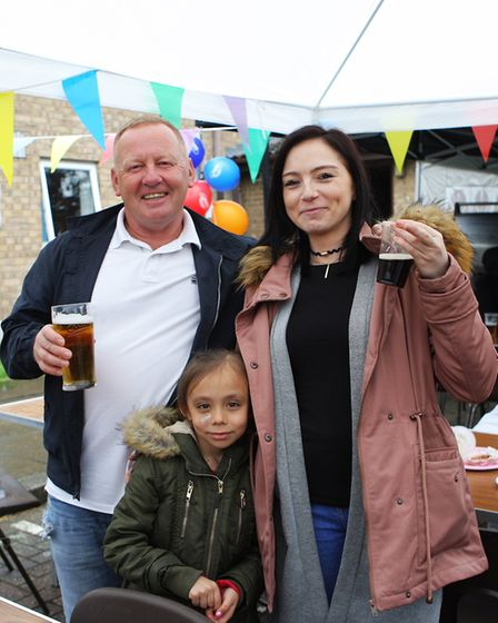 St John's Community Fun Day: John Lawless, Lourone Lawless and seven-year-old Aaliyah Lawless.Pi
