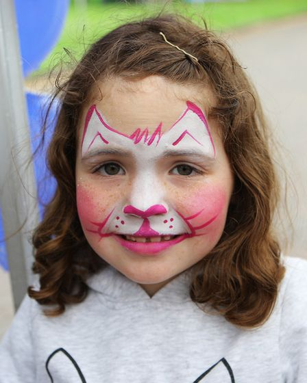St John's Community Fun Day: six-year-old Lexi Watson with a painted face.Picture: Karyn Haddon