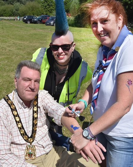 Walsworth Festival 2018: North Herts District Council chairman John Bishop enjoys getting inked with