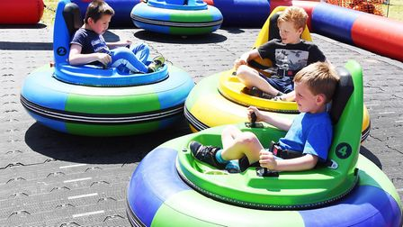 Walsworth Festival 2018: Youngsters enjoy the bumper cars. Picture: Alan Millard