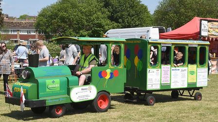 Walsworth Festival 2018: The Stevenage landtrain that circled the common all day. Picture: Alan Mill