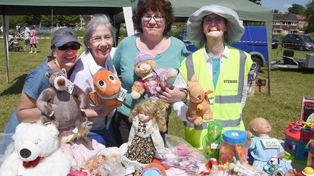 Walsworth Festival 2018: Selling toys at the St Faith's Church stall. Picture: Alan Millard