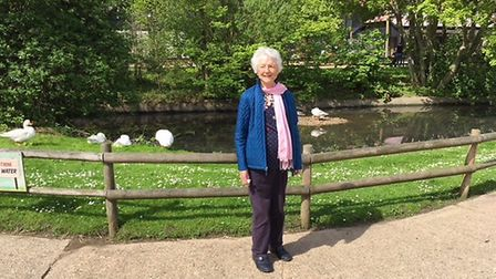 Joyce raised £600 last year when she took part in the sponsored walk. Picture: Anna Priestley
