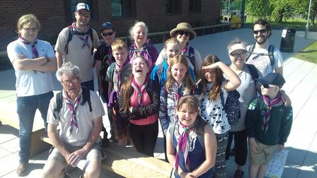5th Letchworth Scouts took part in the charity walk on Sunday. Picture: Bob Mills