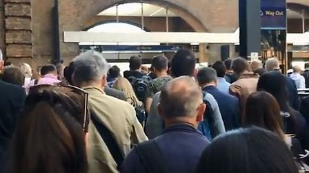 It was a busy morning at King's Cross amid the new Govia timetable being rolled out. Picture: Georgi