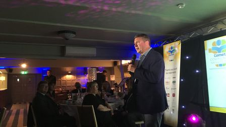 Formula 1's David Croft during his opening speech at the 2018 Comet Community Awards. Picture: JP As