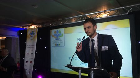 Comet editor Nick Gill makes his opening speech at the 2018 Comet Community Awards. Picture: JP Ashe