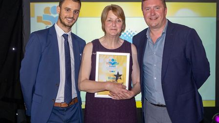Comet Community Awards 2018: Annette Donnelly, our Parent in a Million, with Comet editor Nick Gill