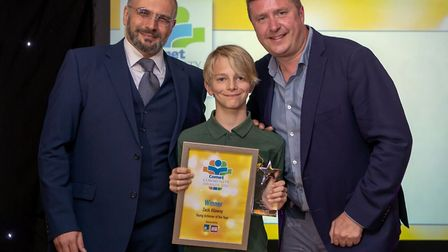 Comet Community Awards 2018: Zack Allaway, winner of theYoung Achiever award, with Luca Bellavita fr