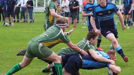 Action from the London One North match between Eton Manor and Saffron Walden (pic Martin Pearl)