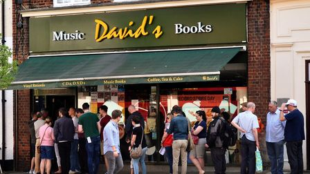 David's Music in Letchworth also had queues for people out the door waiting to join the festivities.