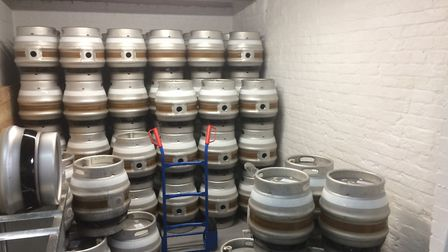 Beer casks at the Potton Brewing Company. Picture: Dan Mountney