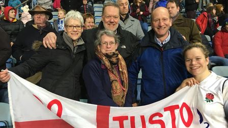 Justine Lucas (far right) and her family helped her gran who had Parkinson's. Picture: Courtesy of J