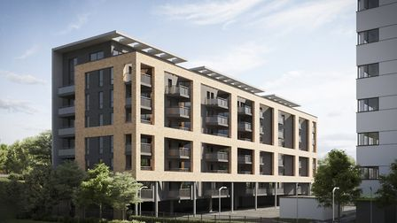 An artist's impression of how the new flats off Stevenage's London Road will look. Picture: Blackmor