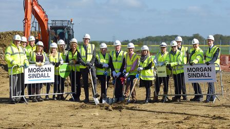 Work on the 4.3m highways depot - set to be completed by the end of the year - has begun in Sandy. P