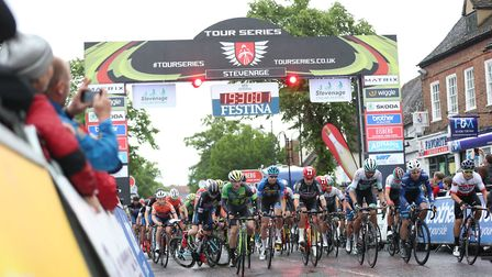 Cyclists battling it out in the final round of the tour series. Pic: SW Pix.
