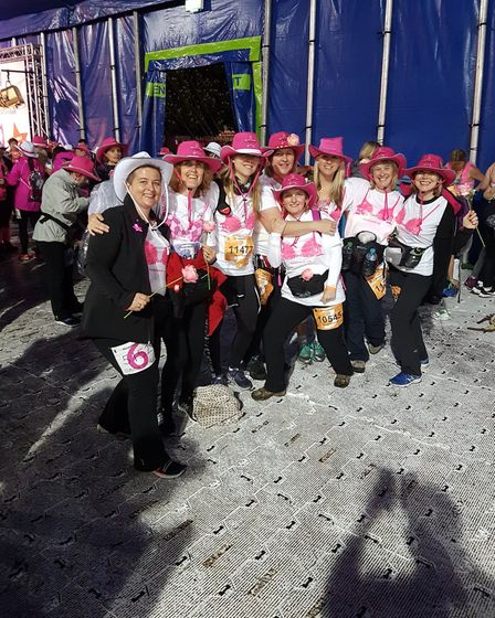 Lonsdale School staff before setting off for the MoonWalk London challenge. Picture: Lonsdale School