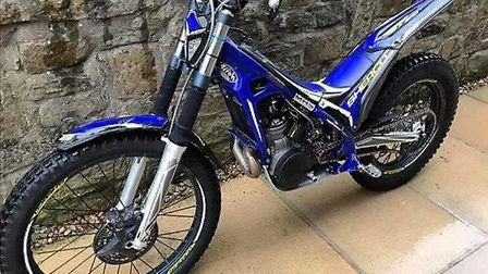 This Sherco ST300 2016 model motorcycle has been stolen from a Letchworth home. Picture: Herts poli
