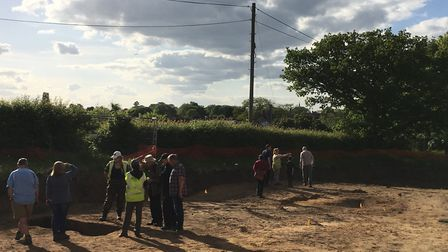 Members of the public were invited to the Sandy archaeological dig site. Picture: Anne Elliott-Flock