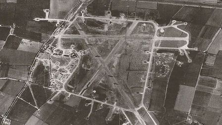 An aerial view of RAF Tempsford in 1944. Picture: Supplied by Bernard O'Connor