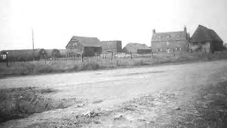Gibraltar Farm, part of RAF Tempsford, during the Second World War. The barn on the left still stand
