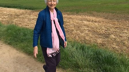 92-year-old Joyce is taking on the Letchworth Greenway sponsored walk. Picture: Anna Priestley